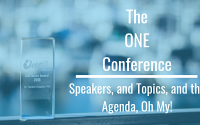 The ONE Conference: Speakers, and Topics and Agendas, Oh My!