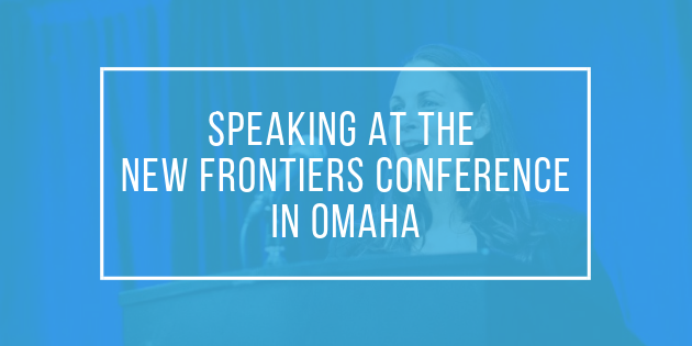 Speaking at the New Frontiers Conference in Omaha