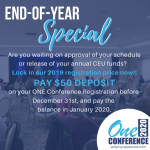 Year-End Special Offer - ONE Conference 2020